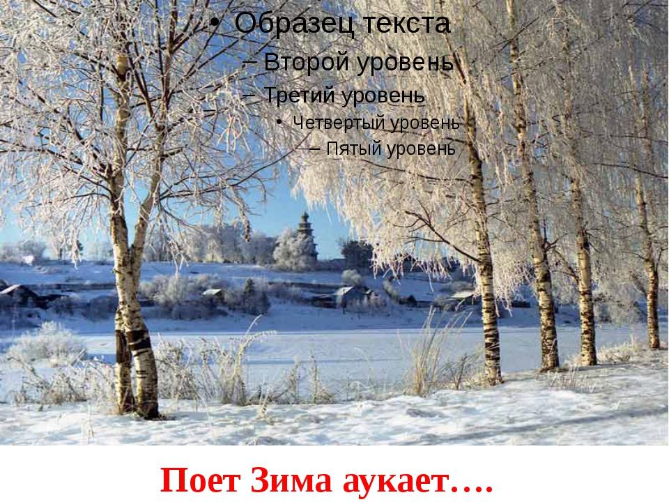 Поет Зима аукает….