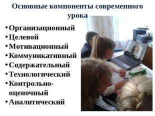 Организационный Целевой Мотивационный Коммуникативный Содержательный Технолог