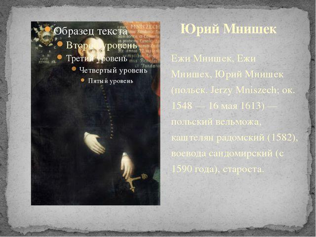 Ежи Мнишек, Ежи Мнишех, Юрий Мнишек (польск. Jerzy Mniszech; ок. 1548 — 16 ма...