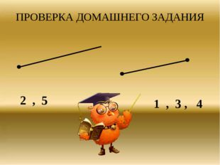 ПРОВЕРКА ДОМАШНЕГО ЗАДАНИЯ 2 , 5 1 , 3 , 4