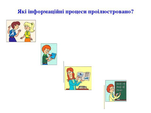 Які інформаційні процеси проілюстровано?