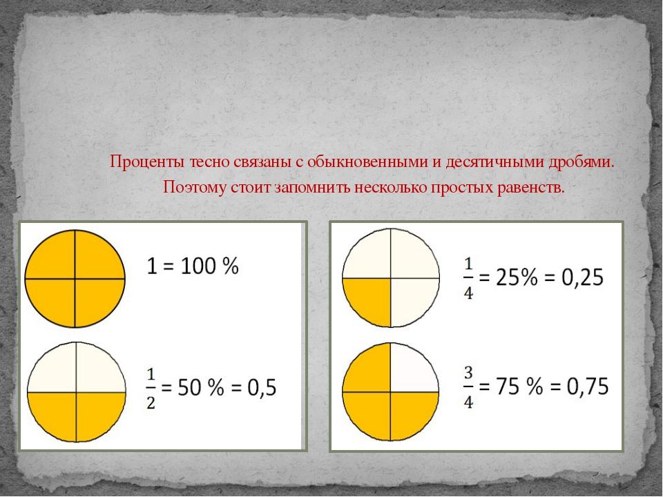 Проценты тесно связаны с обыкновенными и десятичными дробями. Поэтому стоит...
