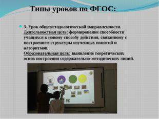 Типы уроков по ФГОС: 3. Урок общеметодологической направленности. Деятельнос