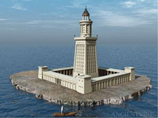 Lighthouse of Alexandria . Lighthouse of Alexandria - one of the seven wonder