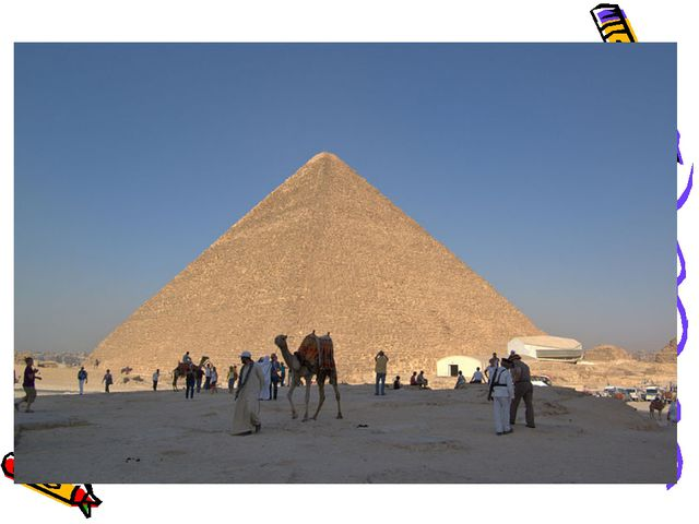 The Pyramid of Cheops. The Pyramid of Cheops - the largest of the pyramids of...