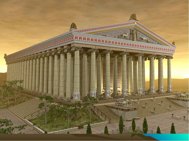 Temple of Artemis . The Temple of Artemis at Ephesus - one of the Seven Wond...