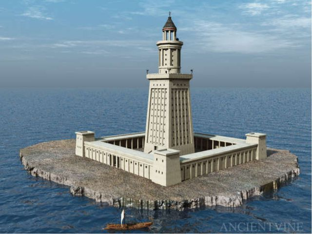 Lighthouse of Alexandria . Lighthouse of Alexandria - one of the seven wonder...