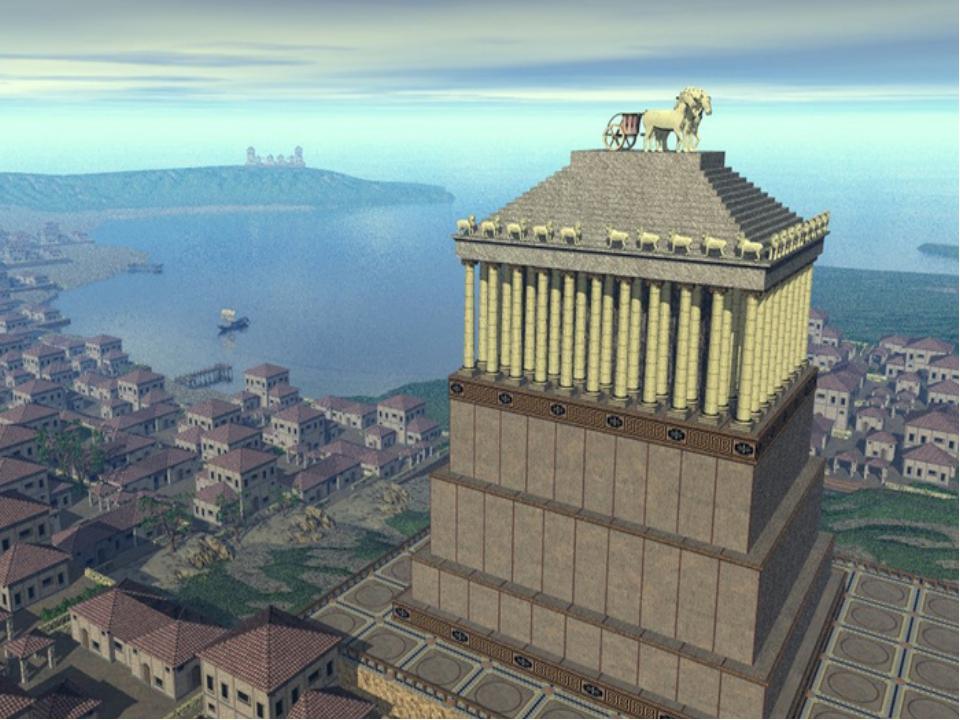 The Mausoleum of Halicarnassus . Halicarnassus mausoleum - tomb of the ruler...