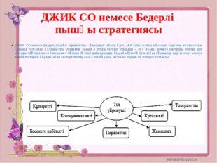 ДЖИК СО немесе Бедерлі пышқы стратегиясы ДЖИК СО немесе Бедерлі пышқы стратег