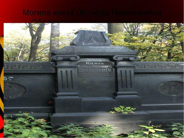 Могила князя Леонида Николаевича Оболенского, деда К. Симонова