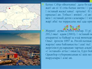 Батыс Сібір ойпатының дала белдемі алып жатқан оңтүстік-батыс шетін құрайтын