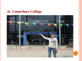 At Canterbury College