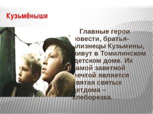 Кузьмёныши Главные герои повести, братья-близнецы Кузьмины, живут в Томилинск