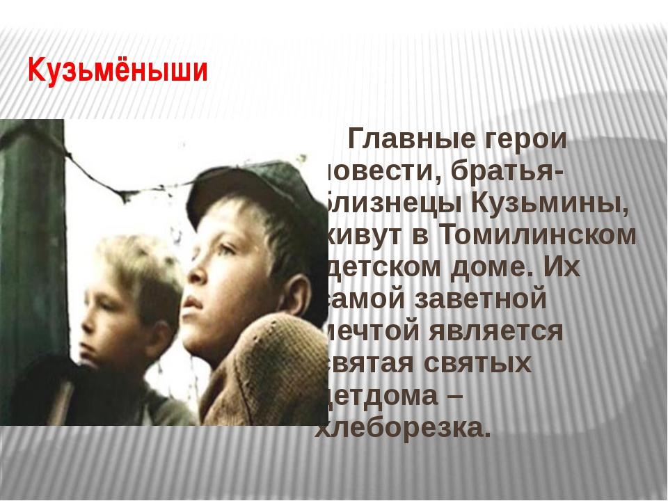 Кузьмёныши Главные герои повести, братья-близнецы Кузьмины, живут в Томилинск...