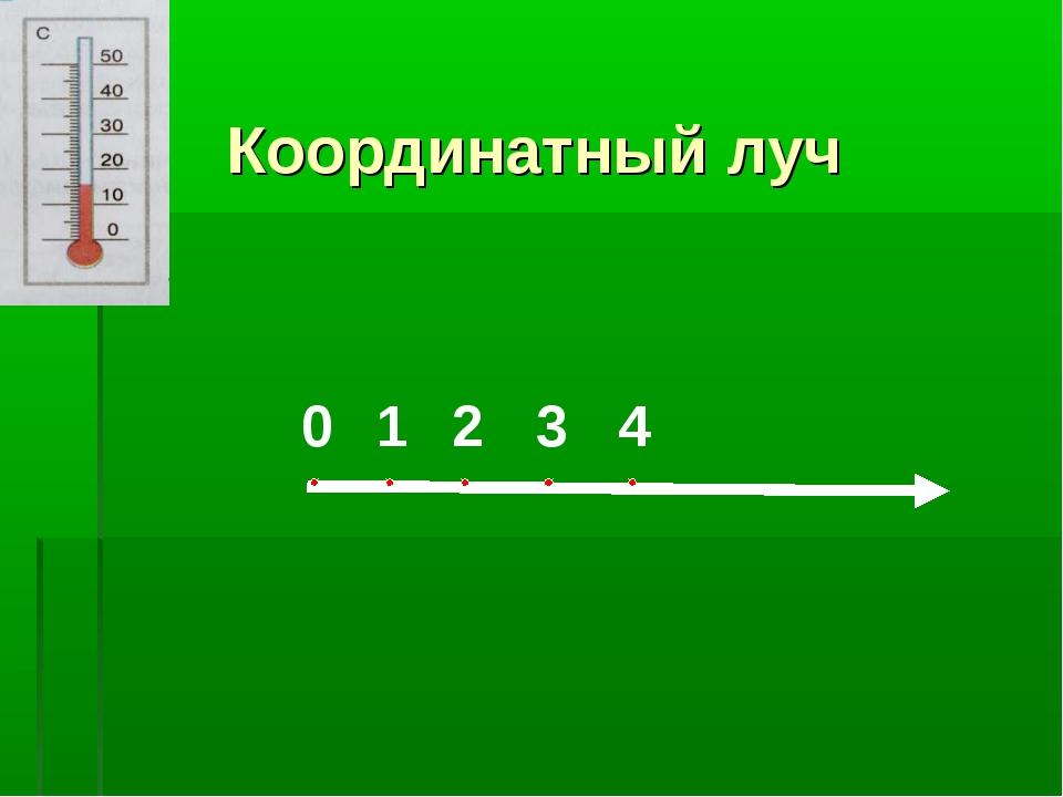 Координатный луч 0 1 2 3 4