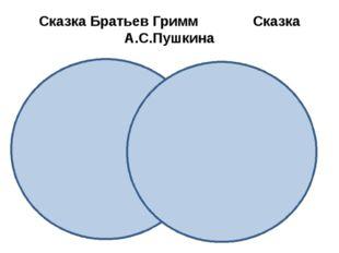 Сказка Братьев Гримм Сказка А.С.Пушкина
