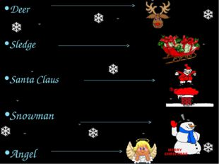 Deer Sledge Santa Claus Snowman Angel