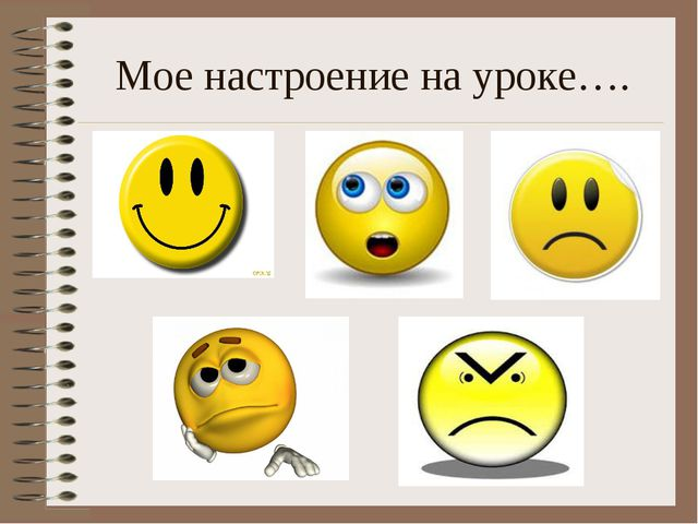 Мое настроение на уроке….