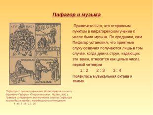 Пифагор и музыка Примечательно, что отправным пунктом в пифагорейском учении