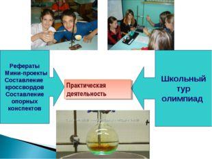 Рефераты Мини-проекты Составление кроссвордов Составление опорных конспектов