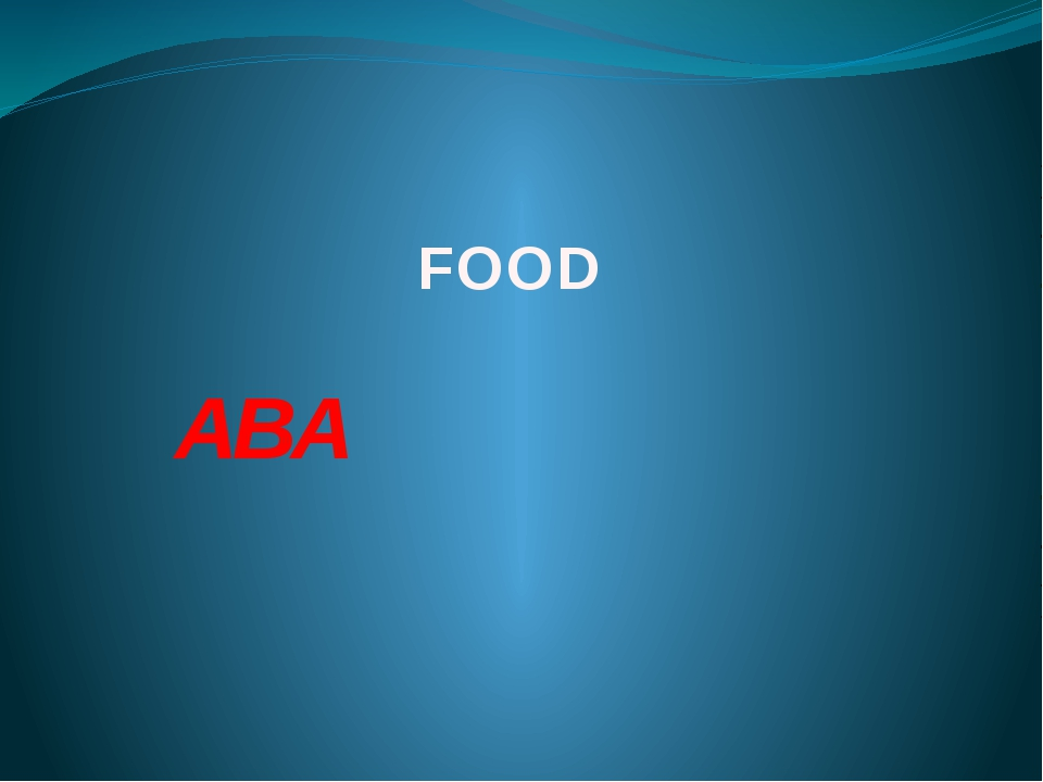 FOOD ABA