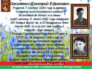 Спасибо солдатам Победы за наше мирное небо и независимость белорусского нар