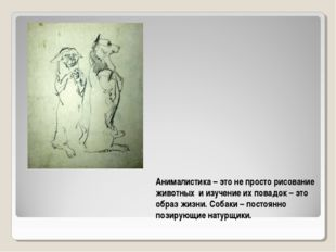 Анималистика – это не просто рисование животных и изучение их повадок – это о