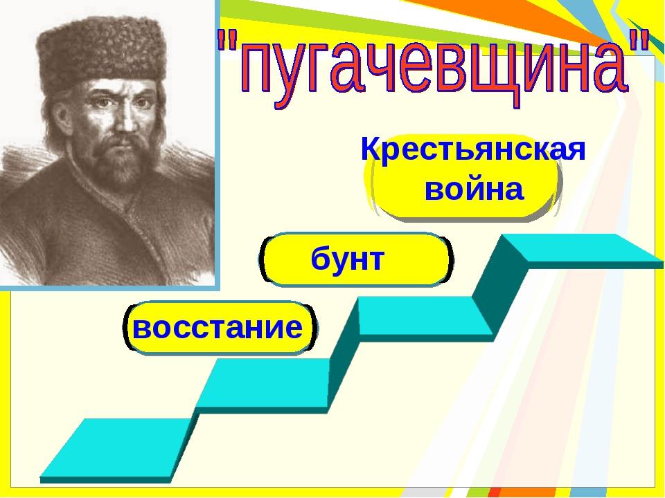восстание Крестьянская война бунт