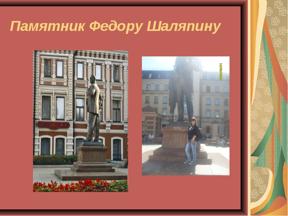 Памятник Федору Шаляпину