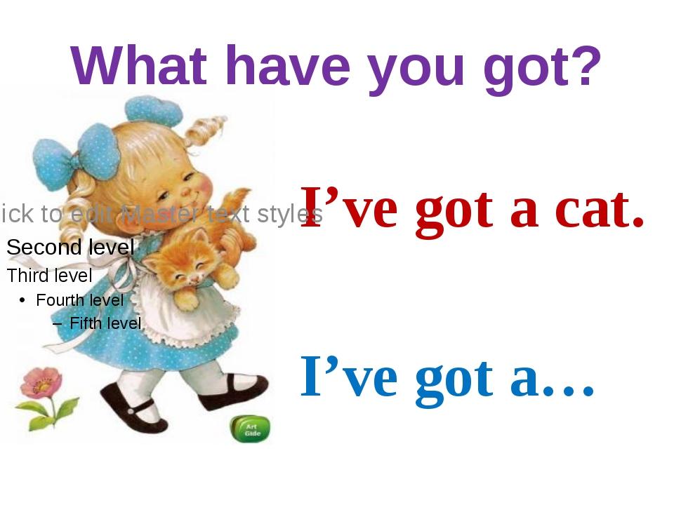 What have you got? I've got a cat. I've got a…