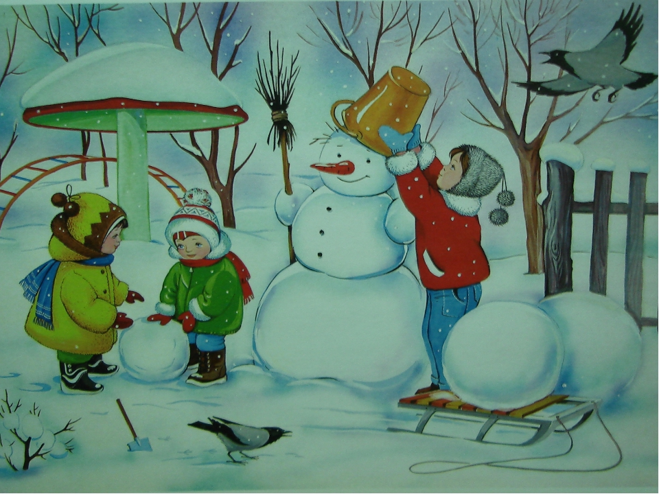картинка для развития речи зима всесторонность, интерес