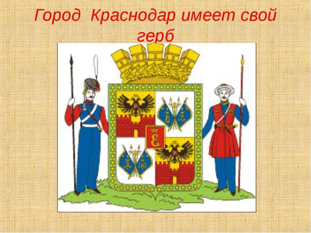 Город Краснодар имеет свой герб