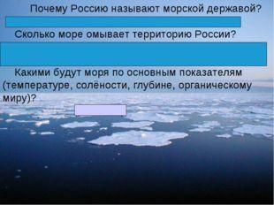 Почему Россию называют морской державой? (Россию омывает большое количество