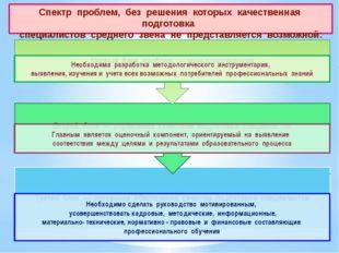 Спектр проблем, без решения которых качественная подготовка специалист