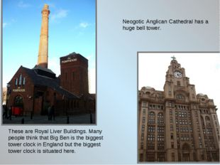 These are Royal Liver Buildings. Many people think that Big Ben is the bigges