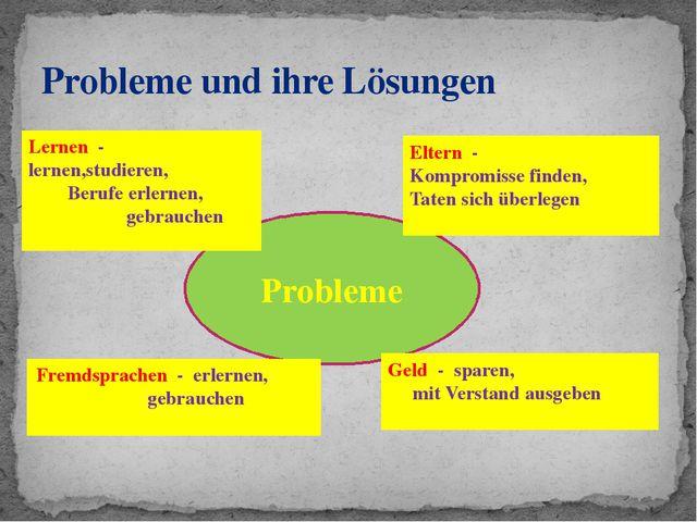 Probleme und ihre Lösungen Probleme Lernen - lernen,studieren, Berufe erlerne...