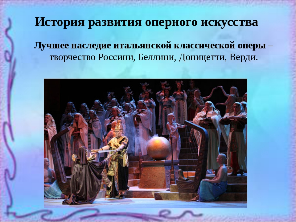 История развития оперного искусства Лучшее наследие итальянской классической...