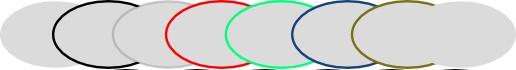эллипсы с разноцветной обводкой в inkscape