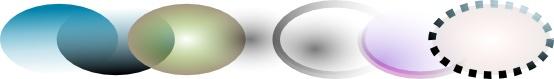 эллипсы с градиентной заливкой в inkscape