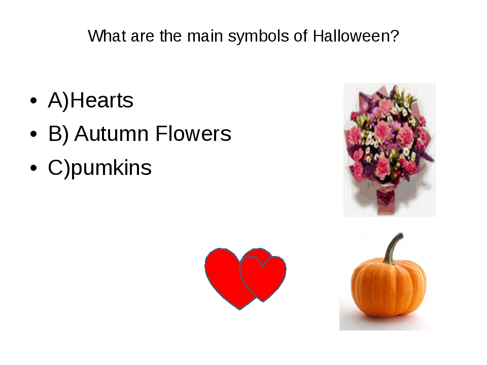 What are the main symbols of Halloween? 