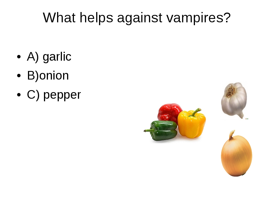 What helps against vampires? 