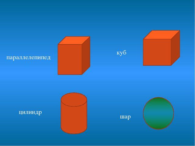 куб цилиндр параллелепипед шар