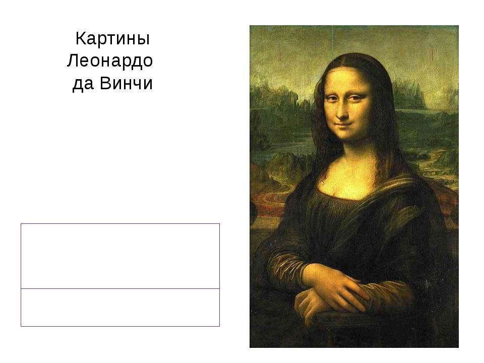 Картины Леонардо да Винчи «Джоконда» или «Мона Лиза»
