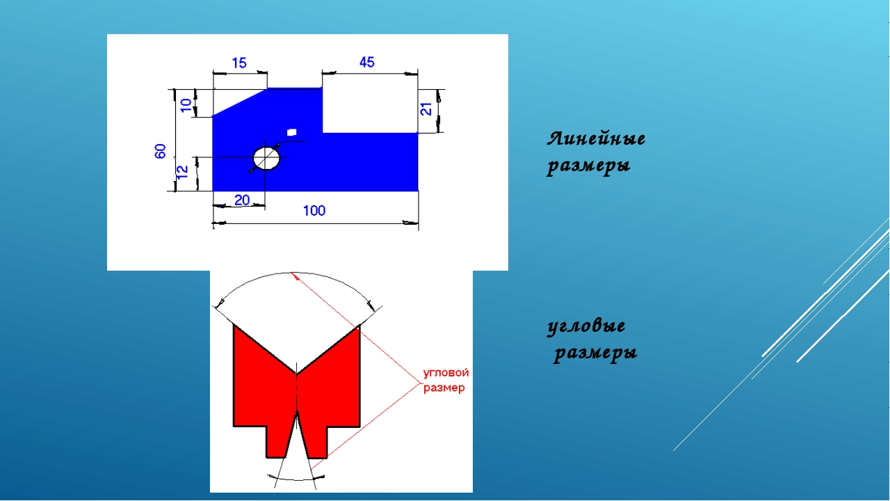 Линейные размеры угловые размеры