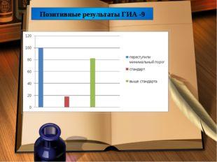 Позитивные результаты ГИА -9