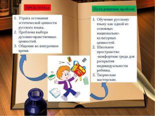 Утрата осознания эстетической ценности русского языка. Проблема выбора духовн