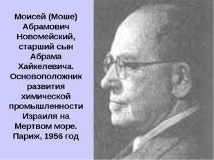 Моисей (Моше) Абрамович Новомейский, старший сын Абрама Хайкелевича. Основопо