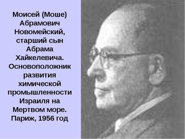 Моисей (Моше) Абрамович Новомейский, старший сын Абрама Хайкелевича. Основопо...
