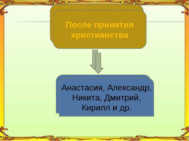 По черте характера Добрыня, Молчун, Умник, Несмеяна После принятия христианст...