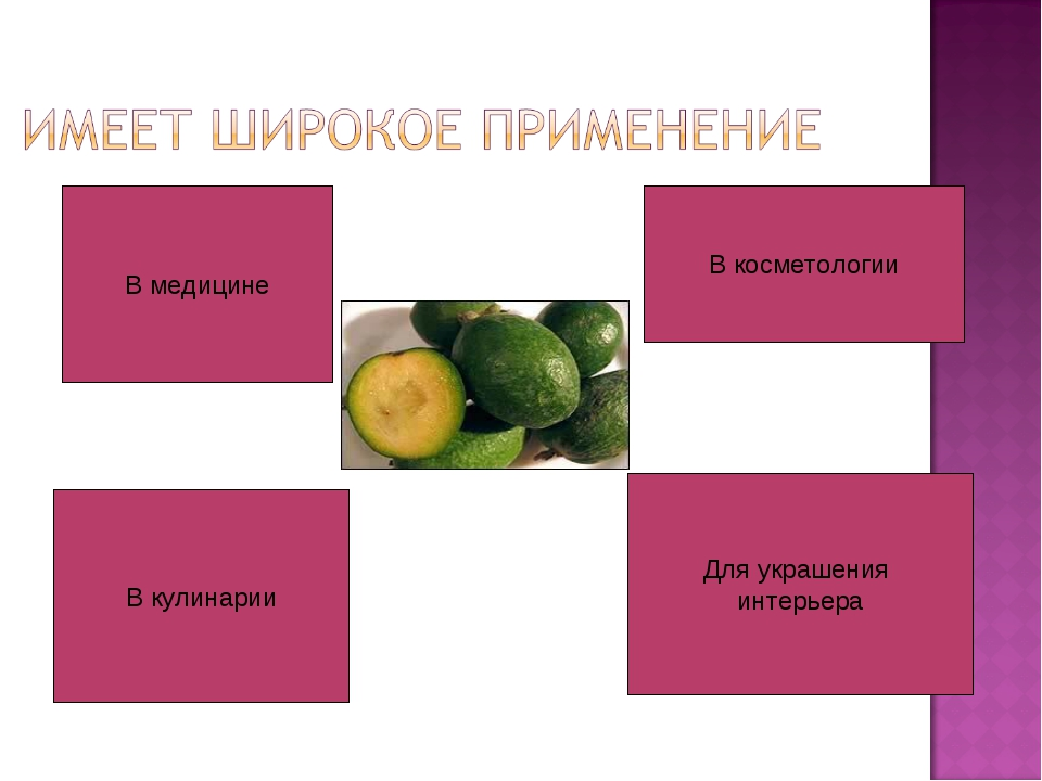 В медицине В кулинарии В косметологии Для украшения интерьера